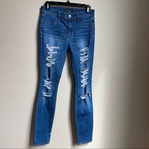 Kendall & Kylie high rise ripped jeggings size 27